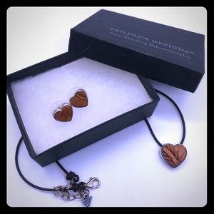 Vintage 2004 Silpada Leather and Sterling Hearts!